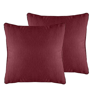Alcott Hill Brownsburg Solid Chenille Throw Pillow (Set of 2); Sangria