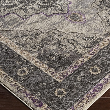 Mistana Nicole Gray/Brown Area Rug; 5'3'' x 7'3''