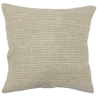 Union Rustic Fabela Striped Down Filled 100pct Cotton Throw Pillow; 22'' x 22''
