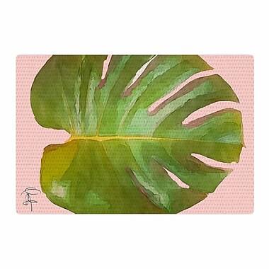 East Urban Home Oriana Cordero Tropico Pink/Green Area Rug; 2' x 3'