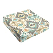 Mistana Camille Indoor/Outdoor Ottoman Cushion; Gray