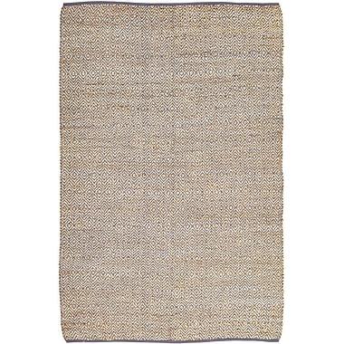 Mistana Conner Hand-Woven Grey / Beige Area Rug; 6' x 9'