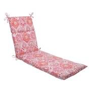 Mistana Dyanna Outdoor Chaise Lounge Cushion; Pink / Orange / Turquoise / White
