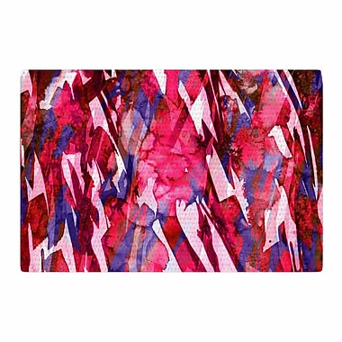 East Urban Home Ebi Emporium Frosty Bouquet 5 Abstract Maroon Area Rug; 4' x 6'