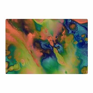 East Urban Home Nina May Acid Splash Down Green/Blue Area Rug; 4' x 6'