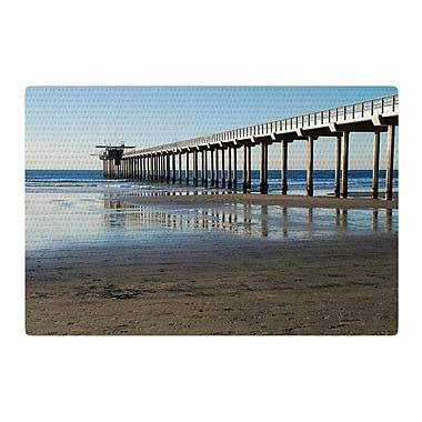 East Urban Home Nick Nareshni Scripps Beach Pier Coastal Photography Brown/Blue Area Rug; 4' x 6'