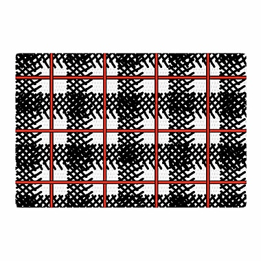 East Urban Home Trebam Kariran Red/Black Area Rug; 4' x 6'