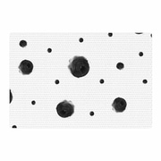East Urban Home Chelsea Victoria Black Dots Pattern Abstract Area Rug; 2' x 3'
