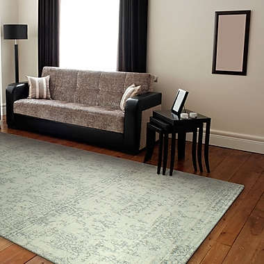 Mistana Chase Ivory/Silver Area Rug; 8'6'' x 11'6''