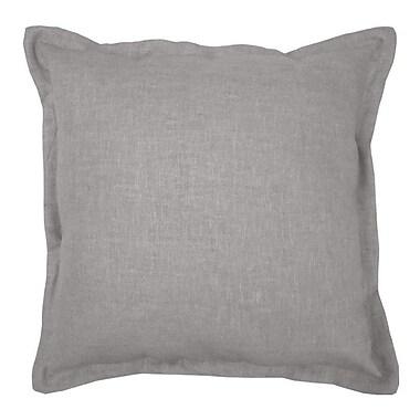 Alcott Hill Brownstown Linen Throw Pillow; Dark Gray