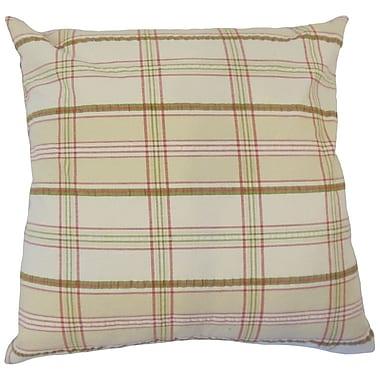 August Grove Jacobsen Plaid Down Filled 100pct Cotton Throw Pillow; 24'' x 24''