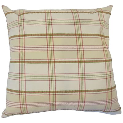 August Grove Jacobsen Plaid Down Filled 100pct Cotton Throw Pillow; 22'' x 22''
