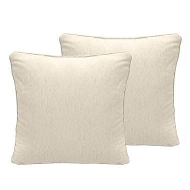 Alcott Hill Brownsburg Chenille Euro Pillow (Set of 2); Ivory