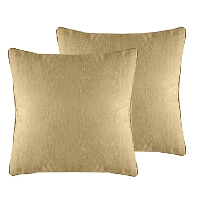 Alcott Hill Brownsburg Solid Chenille Throw Pillow (Set of 2); Wheat