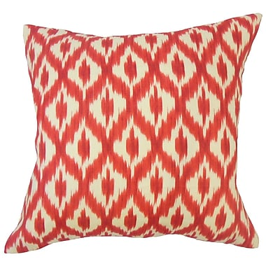 Darby Home Co Honesti Ikat Down Filled 100pct Cotton Throw Pillow; 18'' x 18''