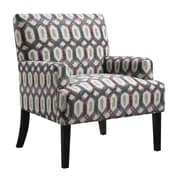 Ivy Bronx Daleyza Armchair; Red/Gray