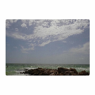 East Urban Home Rosie Brown Clouds Coastal Photography Blue/Green Area Rug; 4' x 6'