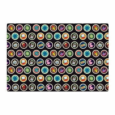 East Urban Home Stephanie Vaeth Toys, Games and Candy Pattern Blue/Red Area Rug; 4' x 6'