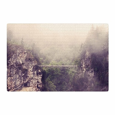 East Urban Home Sylvia Coomes Foggy Mountain Landscape Brown/Green Area Rug; 2' x 3'