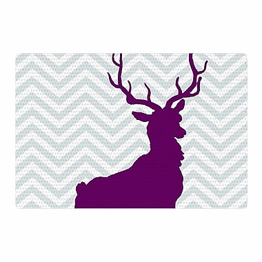 East Urban Home Suzanne Carter Chevron Deer Purple Area Rug; 4' x 6'
