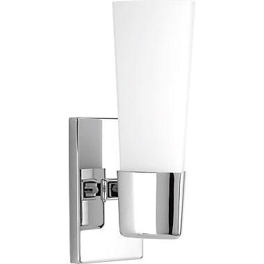Ebern Designs Cheval 1-Light Bath Sconce; Polished Chrome