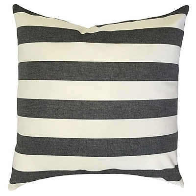 Darby Home Co Gypsy Striped Down Filled 100pct Cotton Throw Pillow; 24'' x 24''