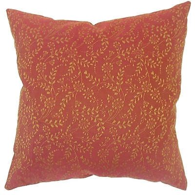 Darby Home Co Miami Floral Down Filled Throw Pillow; 22'' x 22''