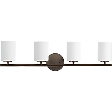Latitude Run Clapton 4-Light Vanity Light; Antique Bronze