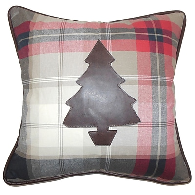Loon Peak Alter Holiday Down Filled 100pct Cotton Throw Pillow; 20'' x 20''
