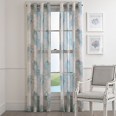 Bay Isle Home Seabeck Floral Semi-Sheer Grommet Single Curtain Panel; 50'' W x 84'' L