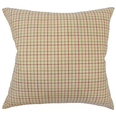 August Grove Peggy Plaid Floor Pillow Multi