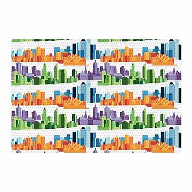 East Urban Home Stephanie Vaeth Australian Cities White/Orange Area Rug; 2' x 3'