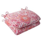 Mistana Dyanna Outdoor Seat Cushion (Set of 2); Pink / Orange / Turquoise / White