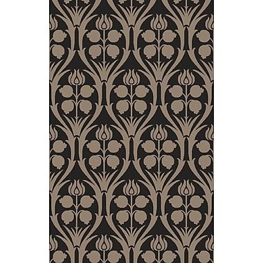 Mistana Georgina Hand-Hooked Black/Gray Area Rug; 6' x 9'