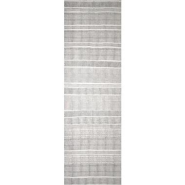 Mistana Hale Hand-Woven Gray Area Rug; Runner 2'6'' x 8'