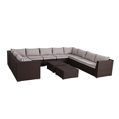 Bay Isle Home Mesquite Olefin Deep Seating 10 Piece Sectional Set w/ Cushions