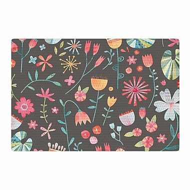 East Urban Home Nic Squirrell Wayside Flowers Area Rug; 4' x 6'