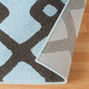 George Oliver Hartland Diamond Pave Blue Area Rug; 8' x 10'