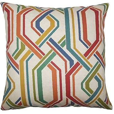Latitude Run Hammer Geometric Floor Pillow Autumn