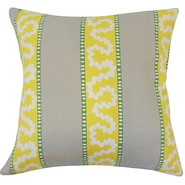 Latitude Run Sherrer Striped Down Filled 100pct Cotton Throw Pillow; 22'' x 22''