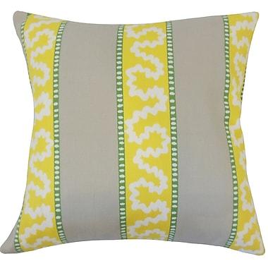 Latitude Run Sherrer Striped Down Filled 100pct Cotton Throw Pillow; 24'' x 24''