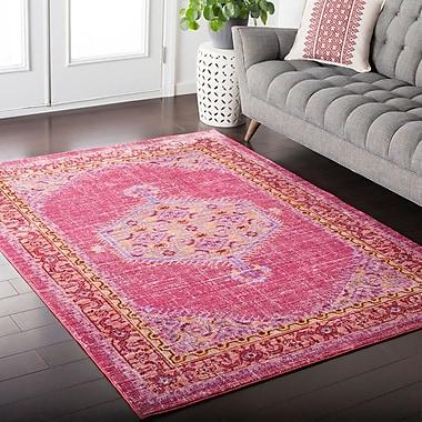 Mistana Fields Pink / Orange Area Rug; 5'3'' x 7'6''