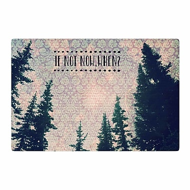 East Urban Home Robin Dickinson If Not Now, When? Tree Typography Pink/Green Area Rug; 2' x 3'