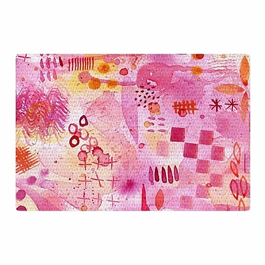 East Urban Home Nic Squirrell Sweet Dreams Abstract Pink Area Rug; 2' x 3'