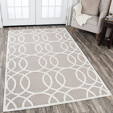Mercer41 Fabian Hand Tufted Wool Light Gray Area Rug; 8' x 10'