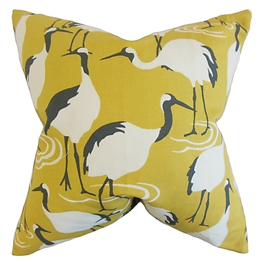 Bay Isle Home Medulla Animal Print Throw Pillow Cover; Yellow