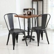 Ebern Designs Derrall Modern Vintage Stackable Chic Bistro Cafe Dining Chair (Set of 2)