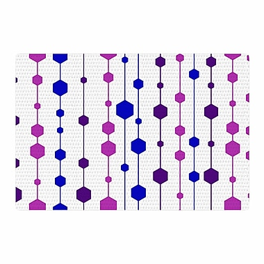 East Urban Home NL Designs Cool Dots Line Pattern White/Pink/Blue Area Rug; 4' x 6'