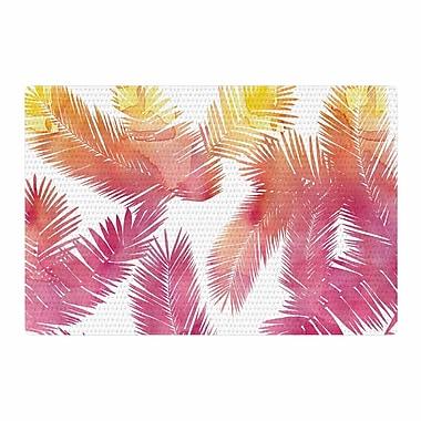 East Urban Home Draper Tropic Love Abstract Pink Area Rug; 4' x 6'