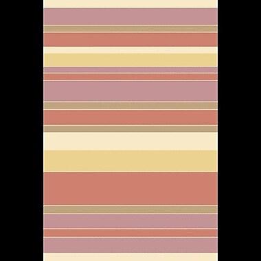 Mistana Huffman Hand-Tufted Rust/Mauve Area Rug; 5' x 8'